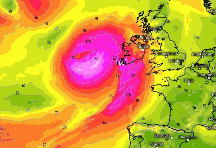 Pénteken viharciklon éri el Európát