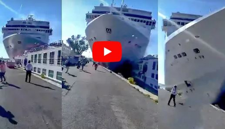 Újabb hajósbaleset: Turistahajónak ütközött egy tengerjáró Velencében (videó)