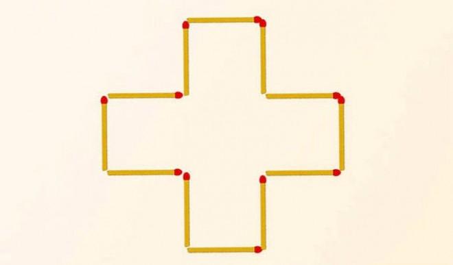 Teszteld a logikádat és a térlátásodat! Mozdíts el 3 gyufát, hogy 3 négyzeted legyen!