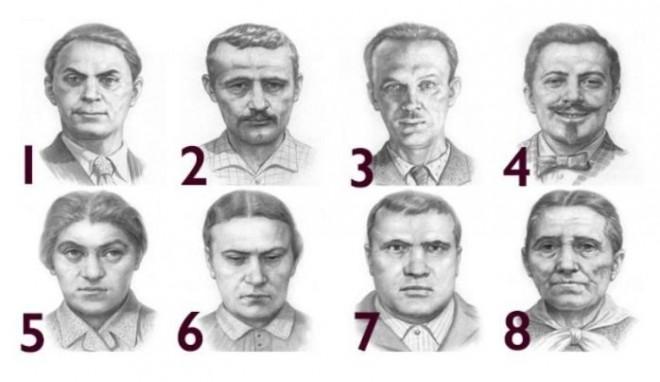 Személyiség teszt! Válaszd ki melyik arc a legellenszenvesebb majd nézd meg mit jelent!