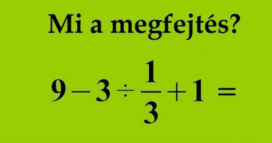 Te tudod a megoldást?