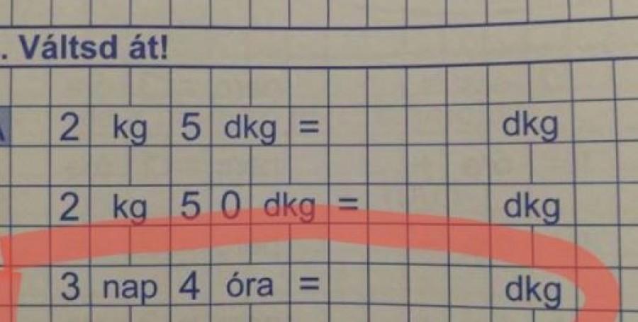 A másodikos gyermekem ezt a házi feladatot hozta haza!