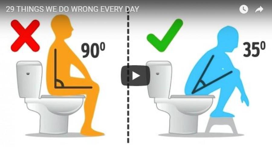 29 dolog, amit rosszul csinálsz minden nap