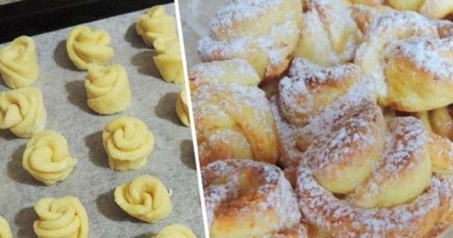 Túrós rózsa-sütemény: húsz perc alatt elkészül