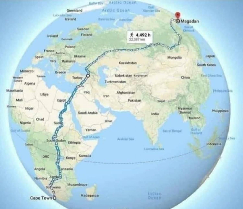 Ez a világ leghosszabb útja, amin gyalogosan végigmehetsz
