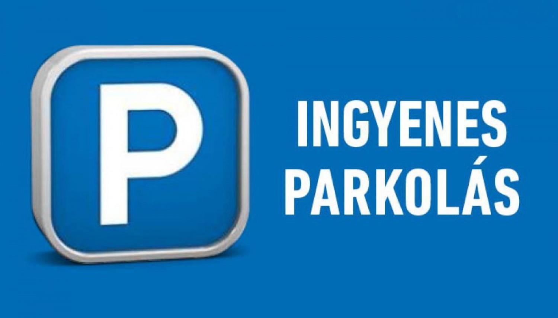 Ingyenes lesz a közterületi parkolás!